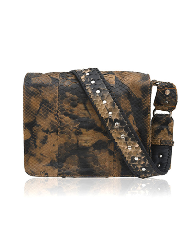 SALVATORE Sac en python batik tie and die